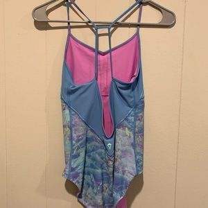 Ivivva blue pink one piece bathing suit 14/16